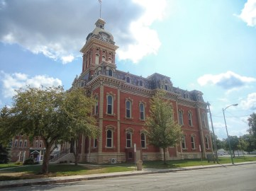 The Adams County Courthouse, designed by J.C. Johnson in 1872.