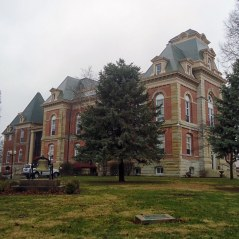 The Benton County Courthouse in Fowler.