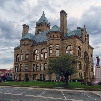 The Blackford County Courthouse in Hartford City.