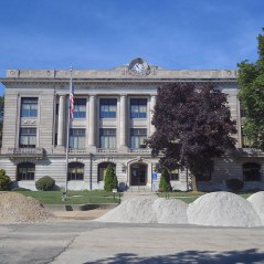 The Carroll County Courthouse in Delphi.