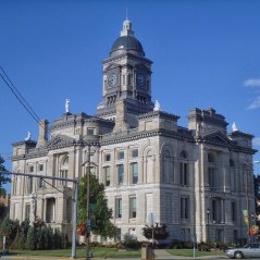 The Clinton County Courthouse in Frankfort.