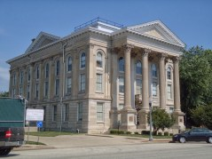 The Dearborn County Courthouse in Lawrenceburg.