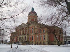 The Elkhart County Courthouse in Goshen.