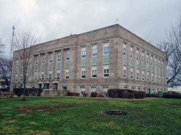 The Fountain County Courthouse in Covington.