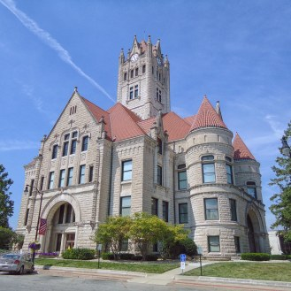 The Hancock County Courthouse in Greenfield.