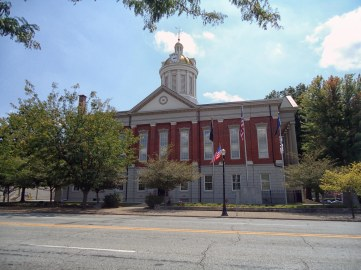 The Jefferson County Courthouse in Madison.