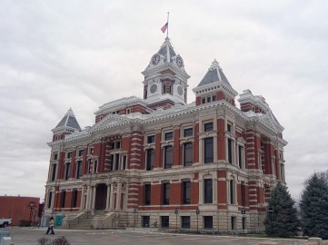 The Johnson County Courthouse in Franklin.
