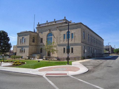 The 1870/1930 Lawrence County Courthouse.