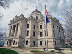 The Monroe County Courthouse in Bloomington.