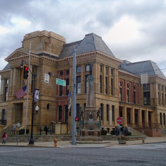 The Montgomery County Courthouse in Crawfordsville.