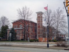 The Morgan County Courthouse in Martinsville.