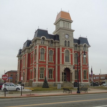 The Defiance County, Ohio Courthouse- designed by J.C. Johnson and built in 1873.