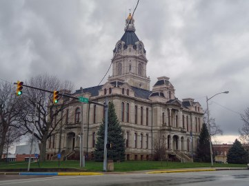 The Parke County Courthouse in Rockville, Indiana- similar to the 1887 Delaware County Courthouse.