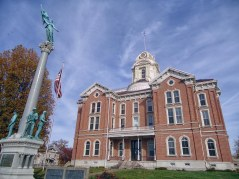 The Posey County Courthouse in Mt. Vernon.