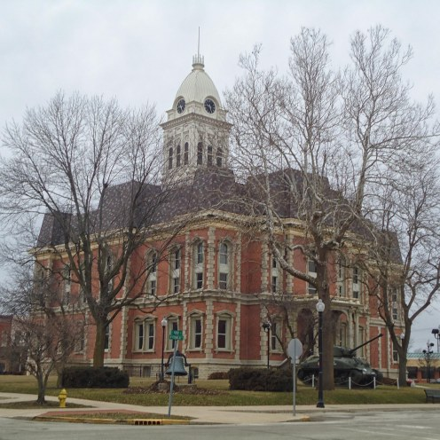 The old, new, Randolph County Courthouse in Winchester.