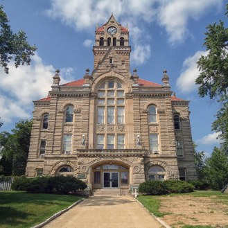 The Starke County Courthouse in Knox.