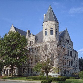 The Wayne County Courthouse in Richmond