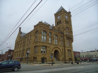 The Wells County Courthouse in Bluffton.