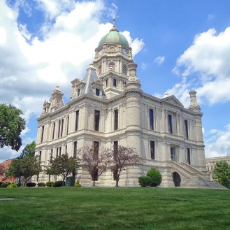 The Whitley County Courthouse in Columbia City