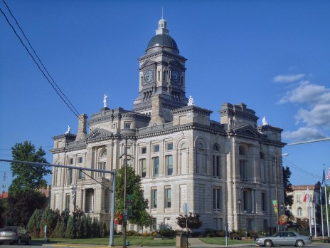 George Bunting's 1884 Clinton County Courthouse in Frankfort.
