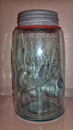 "A circa-1904 Port ""Bally"" Jar made of Michigan City glass in Bellevue, Illinois."