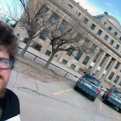 Ted and the Lake County Superior Courthouse in Gary.