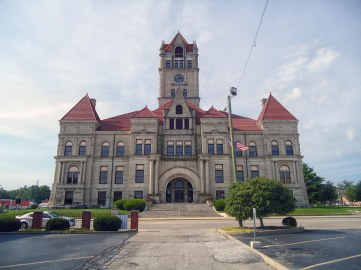 A.W. and E.A. Rush's Rush County Courthouse in Rushville.