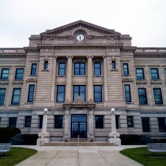 The Dekalb County Courthouse represents the second wave of neoclassical courthouse designs in Indiana.
