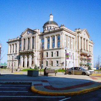 The 1906 Huntington County Courthouse in Huntington.