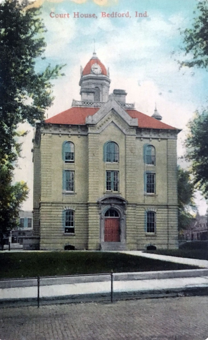The 1872 Lawrence County Courthouse, most of which is still standing.
