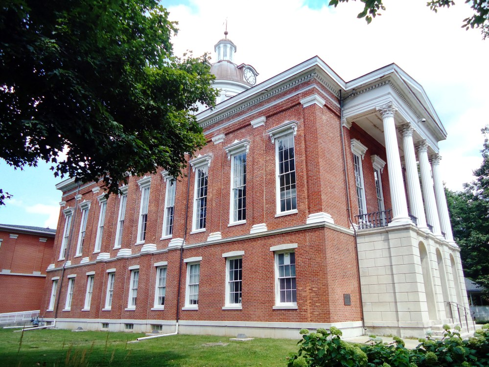 The 1862 Switzerland County Courthouse in Vevay.