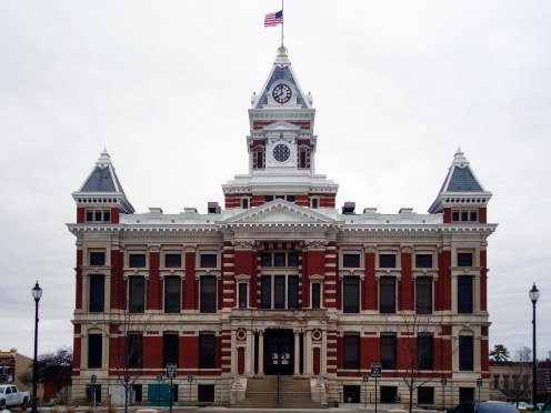 The 1882 Johnson County Courthouse in Franklin