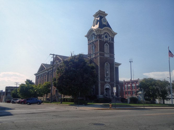 The Henry County Courthouse in New Castle